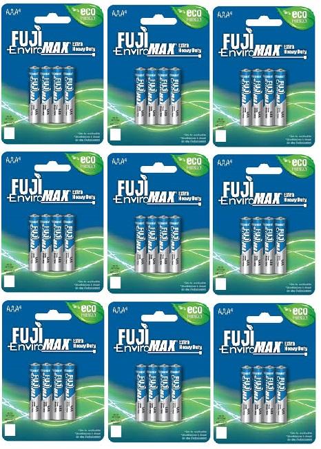 + VAT Brand New 48x Fuji Environmax Heavy Duty AAA Batteries 12 packs of 4 Batteries - Amazon Price