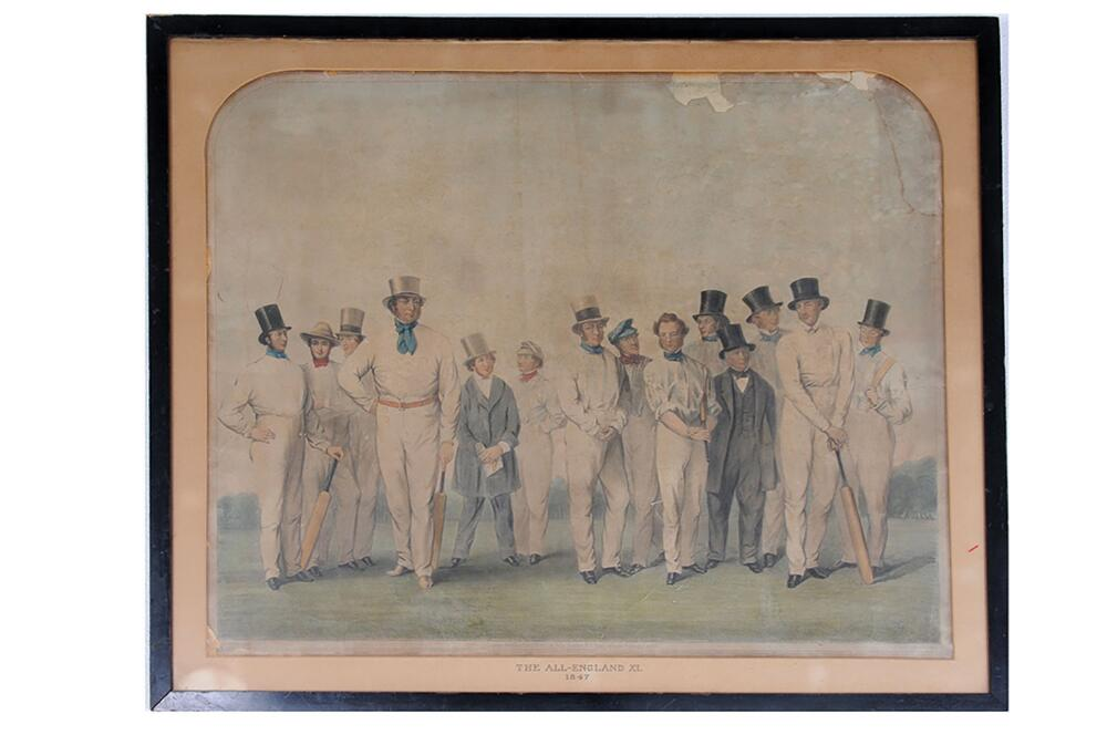 Lot 670 - 'The Eleven of England selected to contend in The Great Cricket Matches of the North for the Year