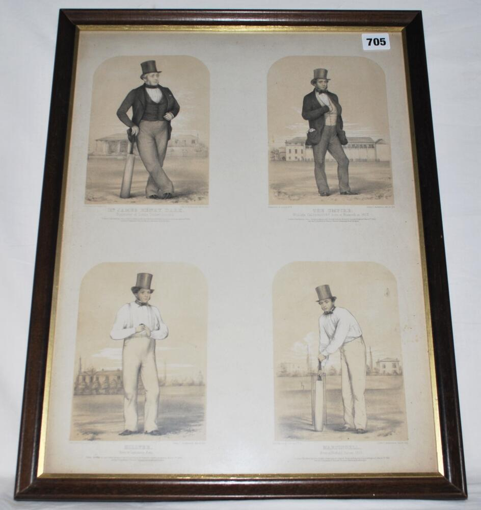 Lot 705 - 'Sketches at Lord's'. Large original lithograph sheet comprising four coloured lithographs of 'Mr