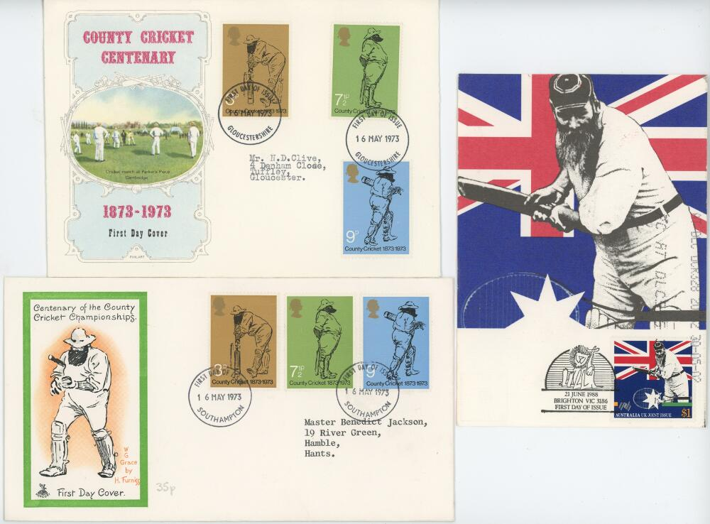 Lot 625 - W.G. Grace. A selection of twenty six modern postcards, greetings and collectors' cards, and three