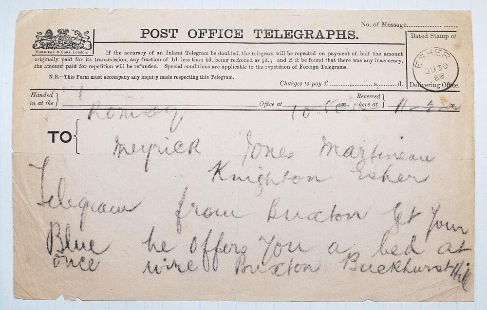 Lot 35 - Rev. Frederic Meyrick Meyrick-Jones. Cambridge University & Kent 1887-1896. A presentation scrapbook