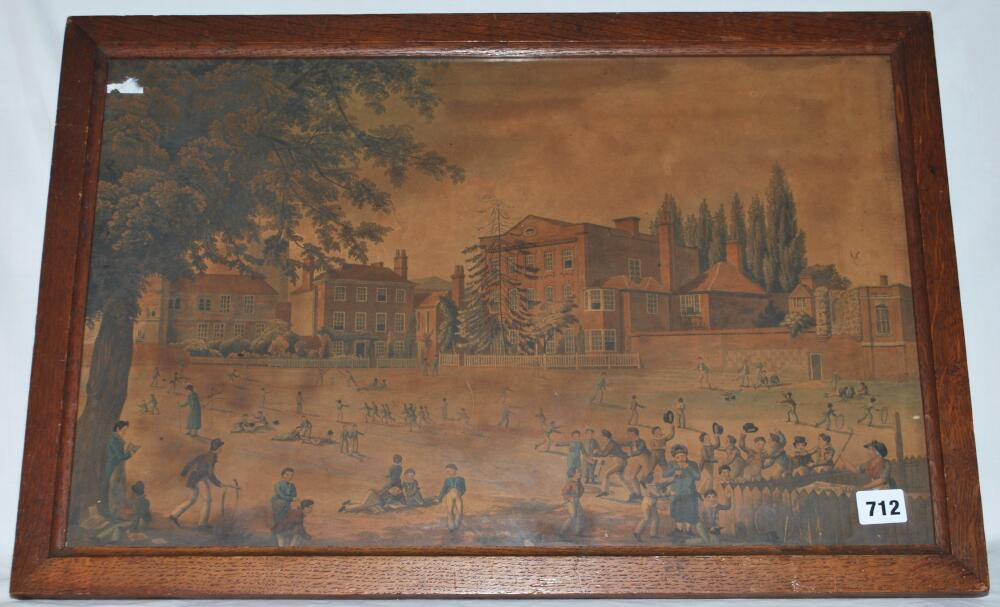 Lot 712 - 'View of Reading School & Playground'. Edmund Havell 1816. Engraved by Robert Havell 1822.