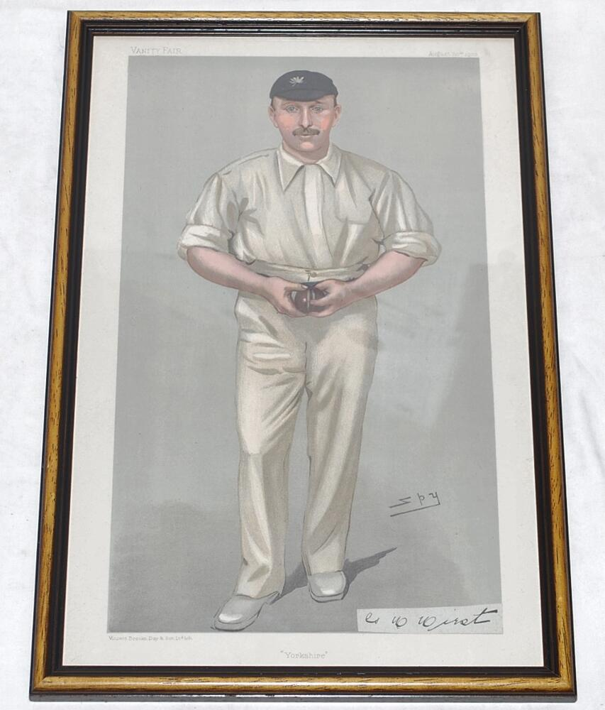 Lot 700 - George Herbert Hirst, Yorkshire & England 1891-1929. Vanity Fair. 'Yorkshire'. Original colour