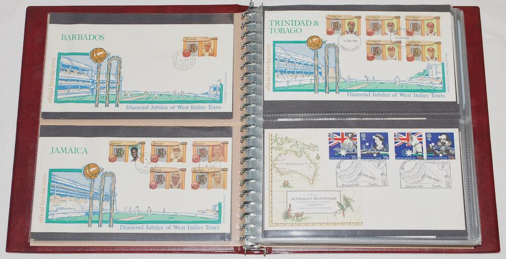 Lot 990 - First day covers 1986-1996. Maroon album comprising eighty three first day and commemorative covers,
