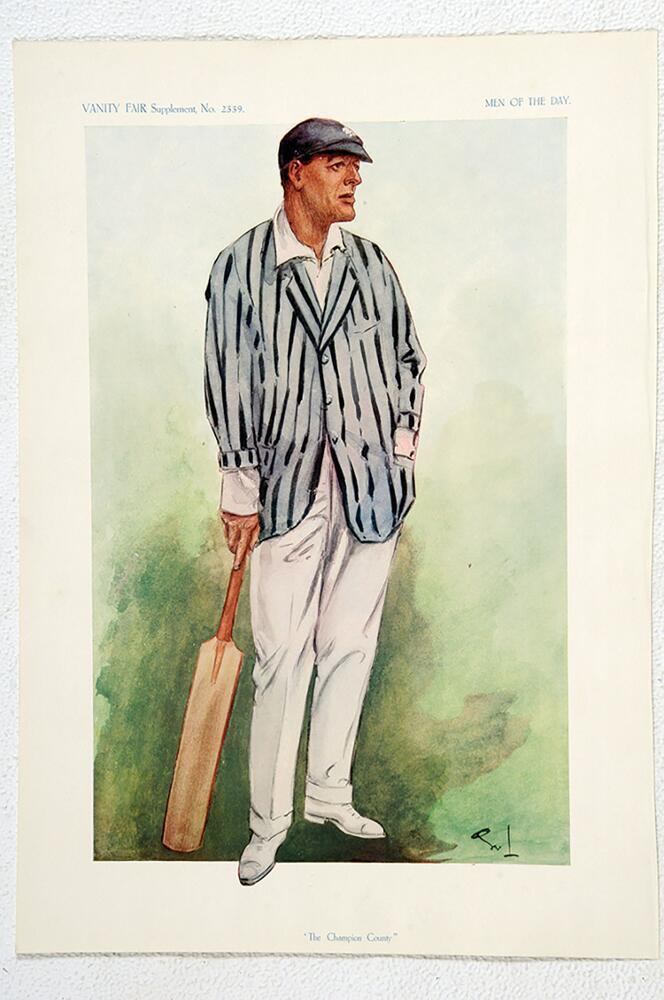 Lot 669 - Edward Wentworth Dillon. Kent 1900-1923. Vanity Fair. 'The Champion County'. Original colour