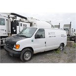 FORD (2004) E150 CARGO VAN WITH 4.8 LITER V8 GAS ENGINE, RWD, AUTO, S/N VIN 1FTRE14W84HB32590