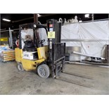 """TCM 259H 5,000 LB. CAPACITY LPG FORKLIFT WITH 189"""" VERTICAL LIFT, 3 STAGE MAST, OUTDOOR TIRES, 46"""""""