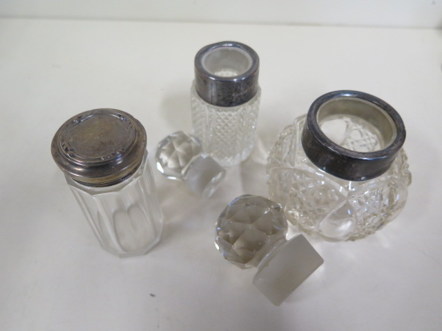 A silver Capstan inkwell, two silver rimmed bottle and a silver top bottle - Image 4 of 4