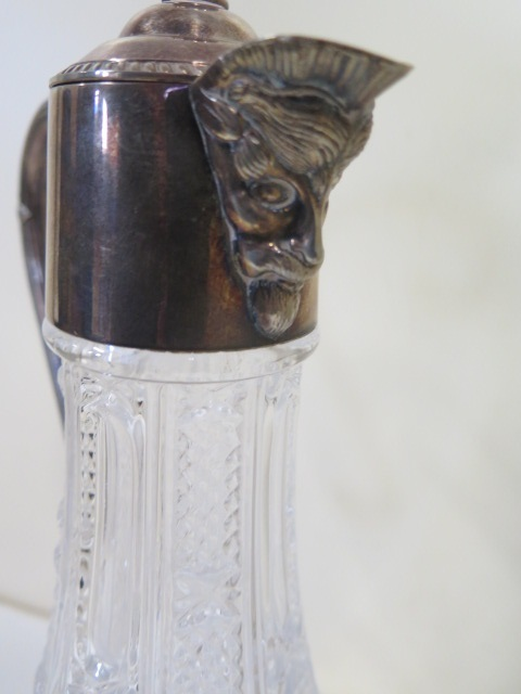 A silver plated claret jug, height 28.5cm, in good condition - Image 2 of 2