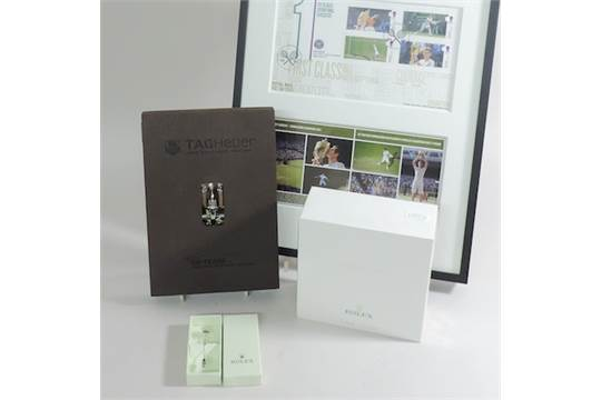 A collection of designer items, to include a Rolex tie pin
