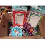 Box of Assorted Bithday Party Items incl Badges & Invitations. See Image