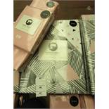 Sanctuary Bailey Multi King Size Duvet Set with Blush Fitted Sheet & 2 Blush Pillow Cases. New &