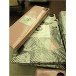 Sanctuary Bailey Multi Single Duvet Set with Blush Fitted Sheet. New & packaged