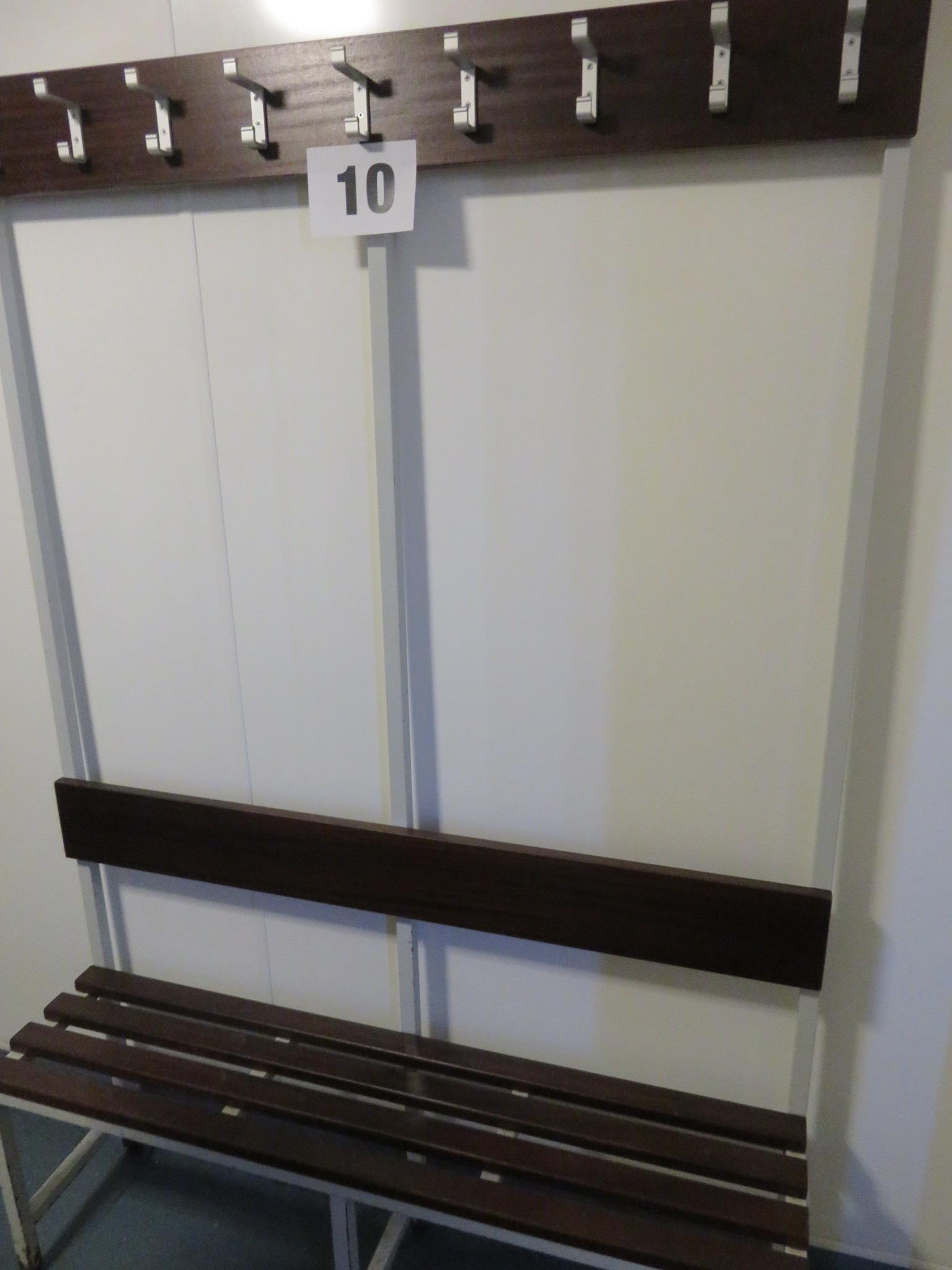 Lot 10 - 2 x Free standing Bench & Coat Hooks. Aoprox. 1200 x 1800mm high. Lift out £10