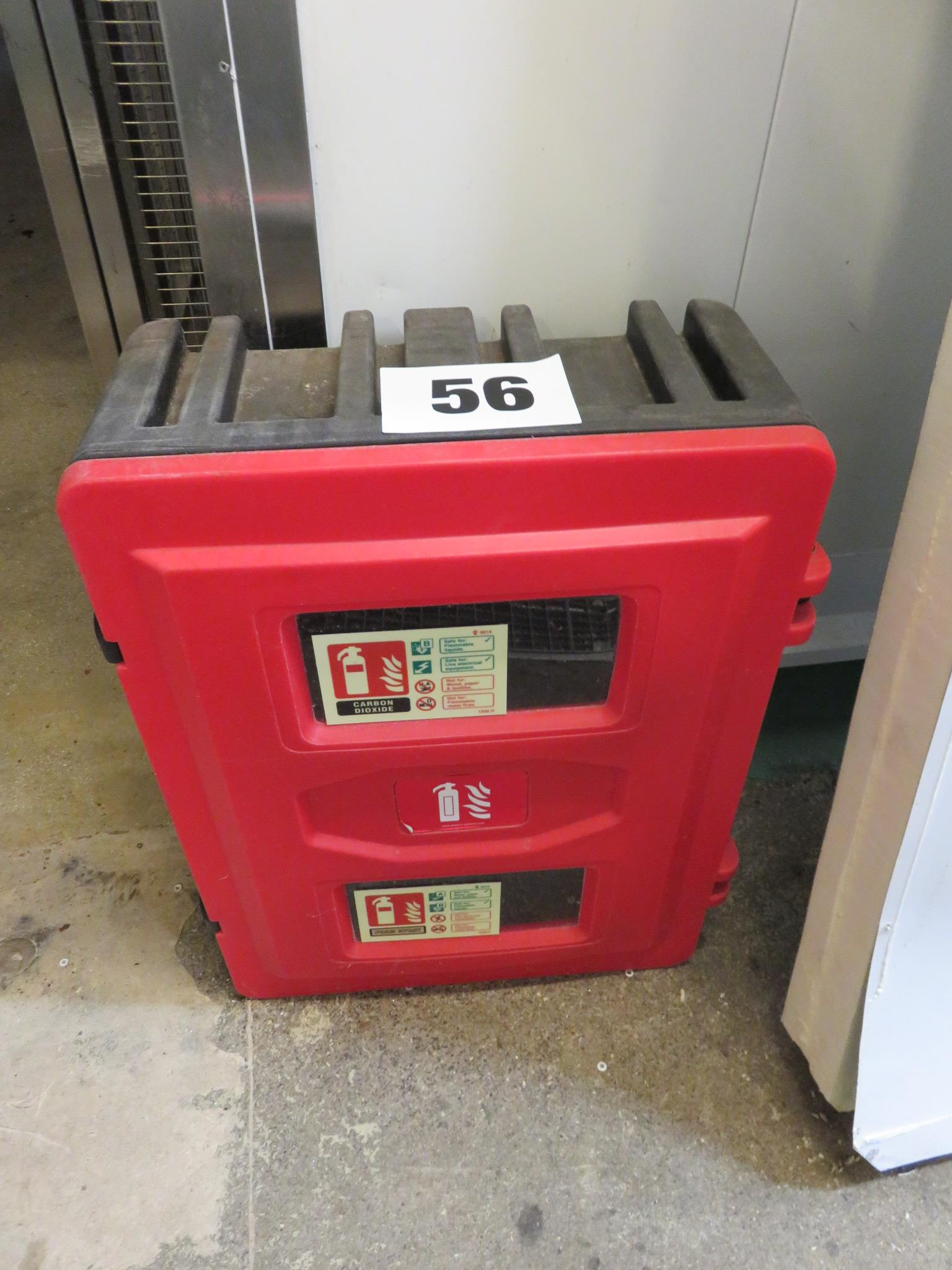 Lot 56 - Fire Extinguisher holder. Lift out £10