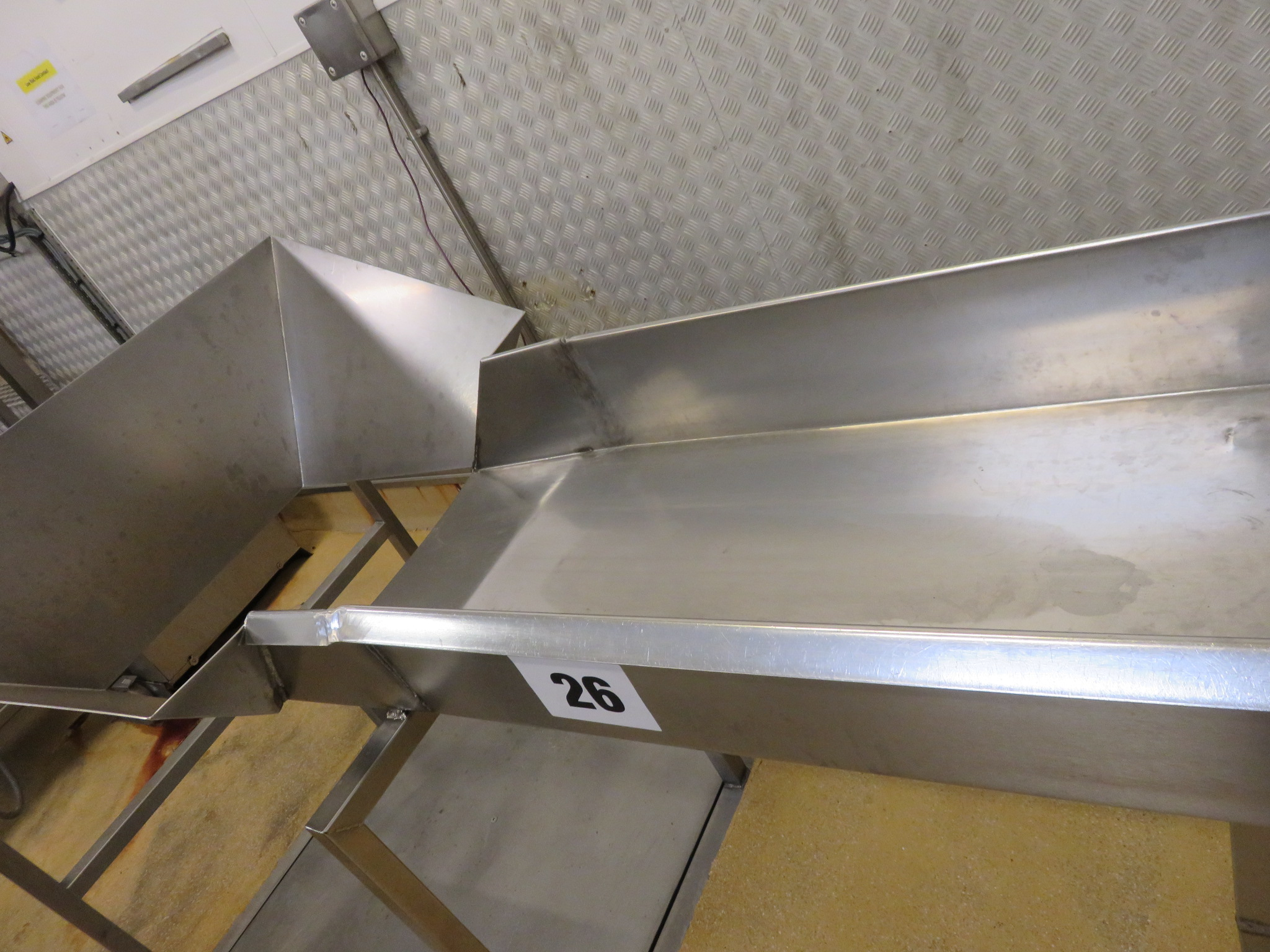 Lot 26 - S/s Sorting Table 2200 mm x 1100 mm. Lift out £20