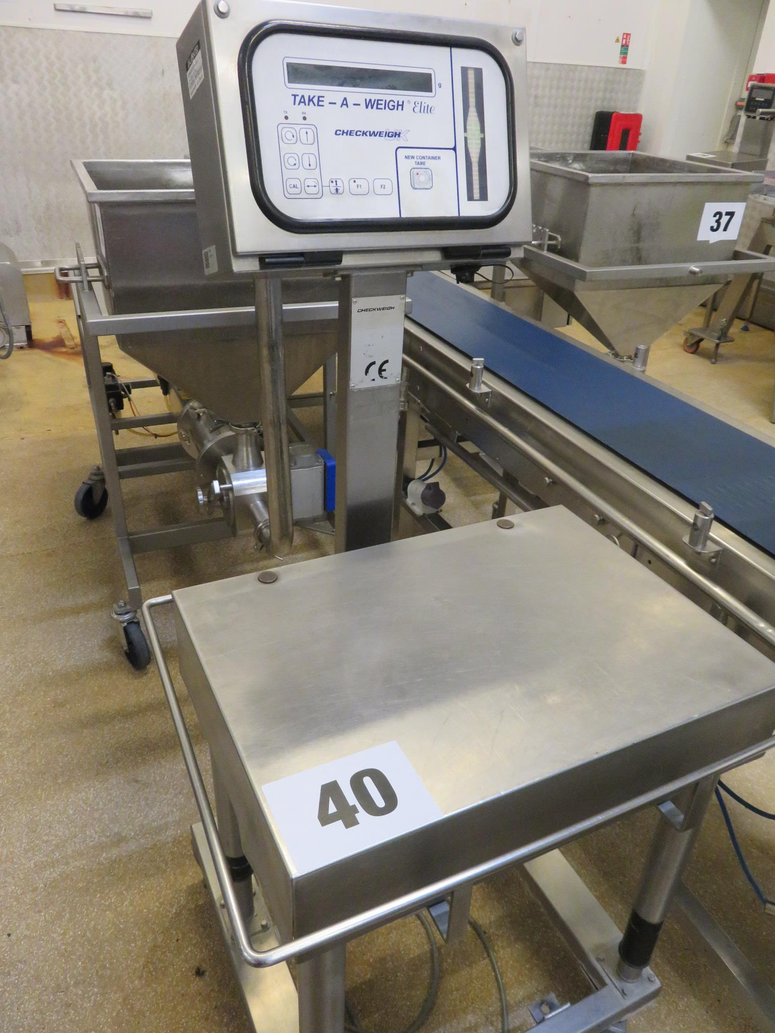 Lot 40 - Checkweigh UK Take away Elite Scale. Mobile on wheels. Lift out £20