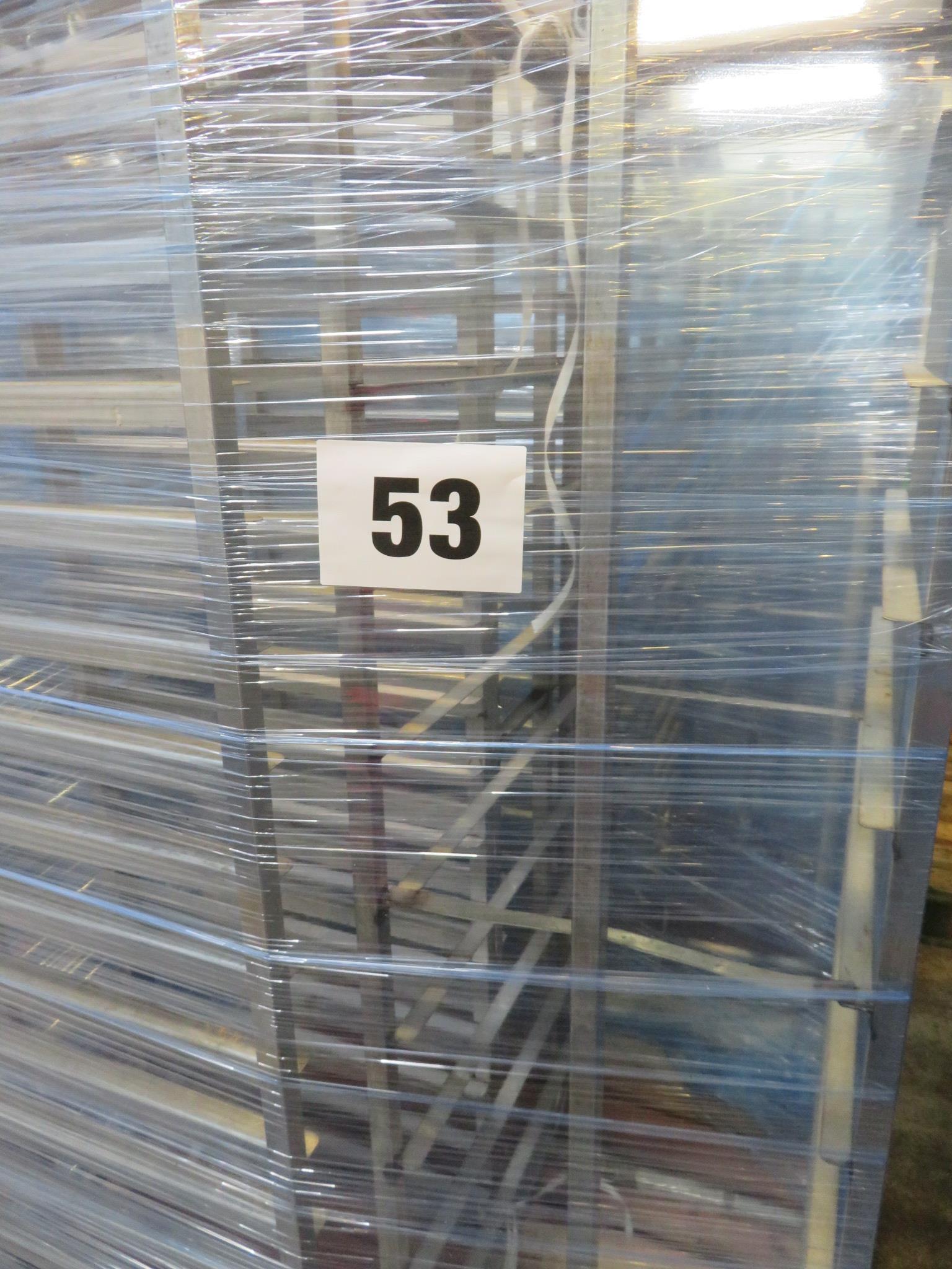 Lot 53 - 3 x S/s Racks:-2 x S/s Racks capable of taking 16 trays.Approx.430 x 650 x 1800mm high. LO£20
