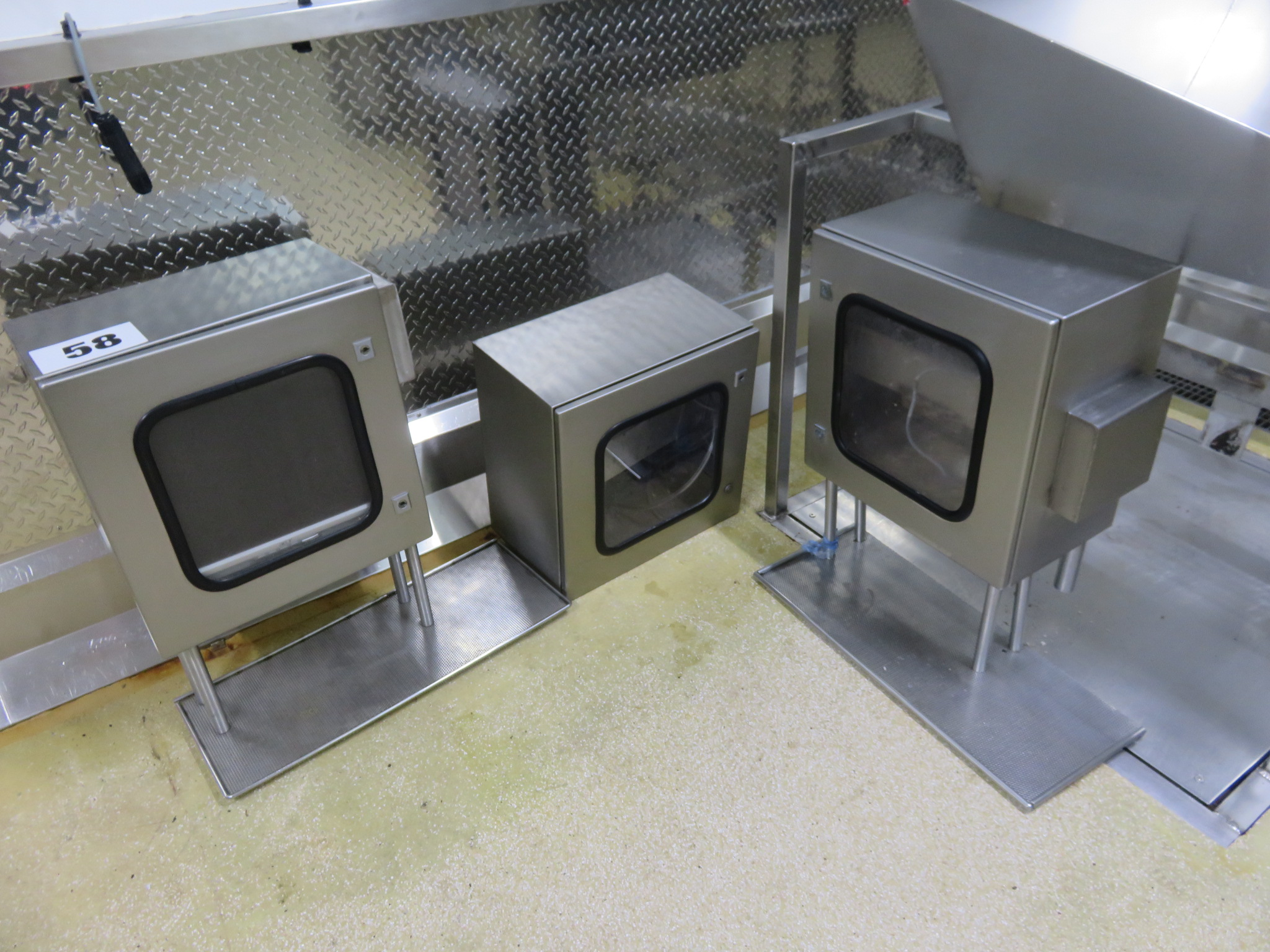 Lot 58 - 3 x S/s Computer Cabinets. Lift out £15