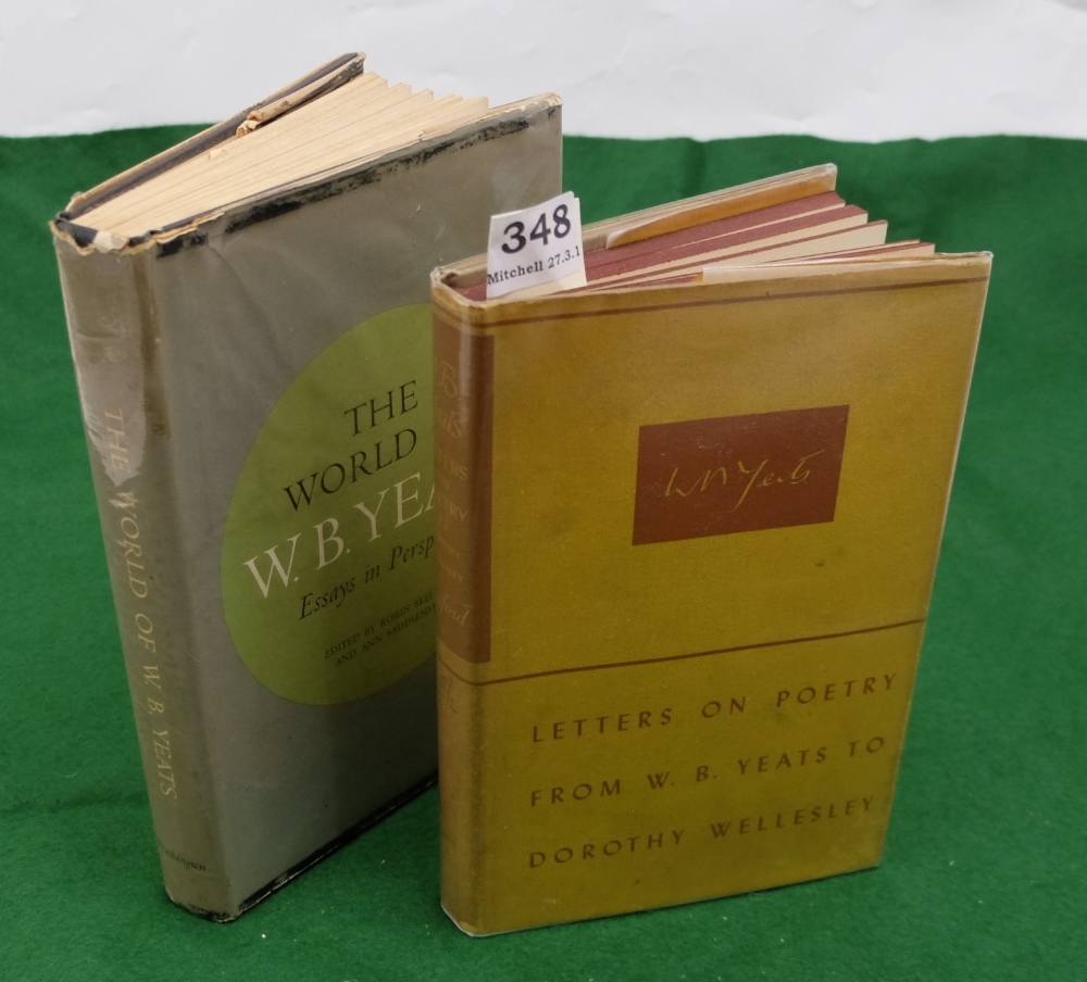 Lot 348 - BOOK - Letters on Poetry from WB Yeats to Dorothy Wellesley, 1940, 1st Edition and Skelton &