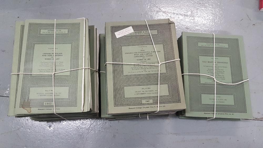 Lot 560 - Sothebys Auction Catalogues, on behalf of various English Clients 1970's & 1960's (4 bundles)