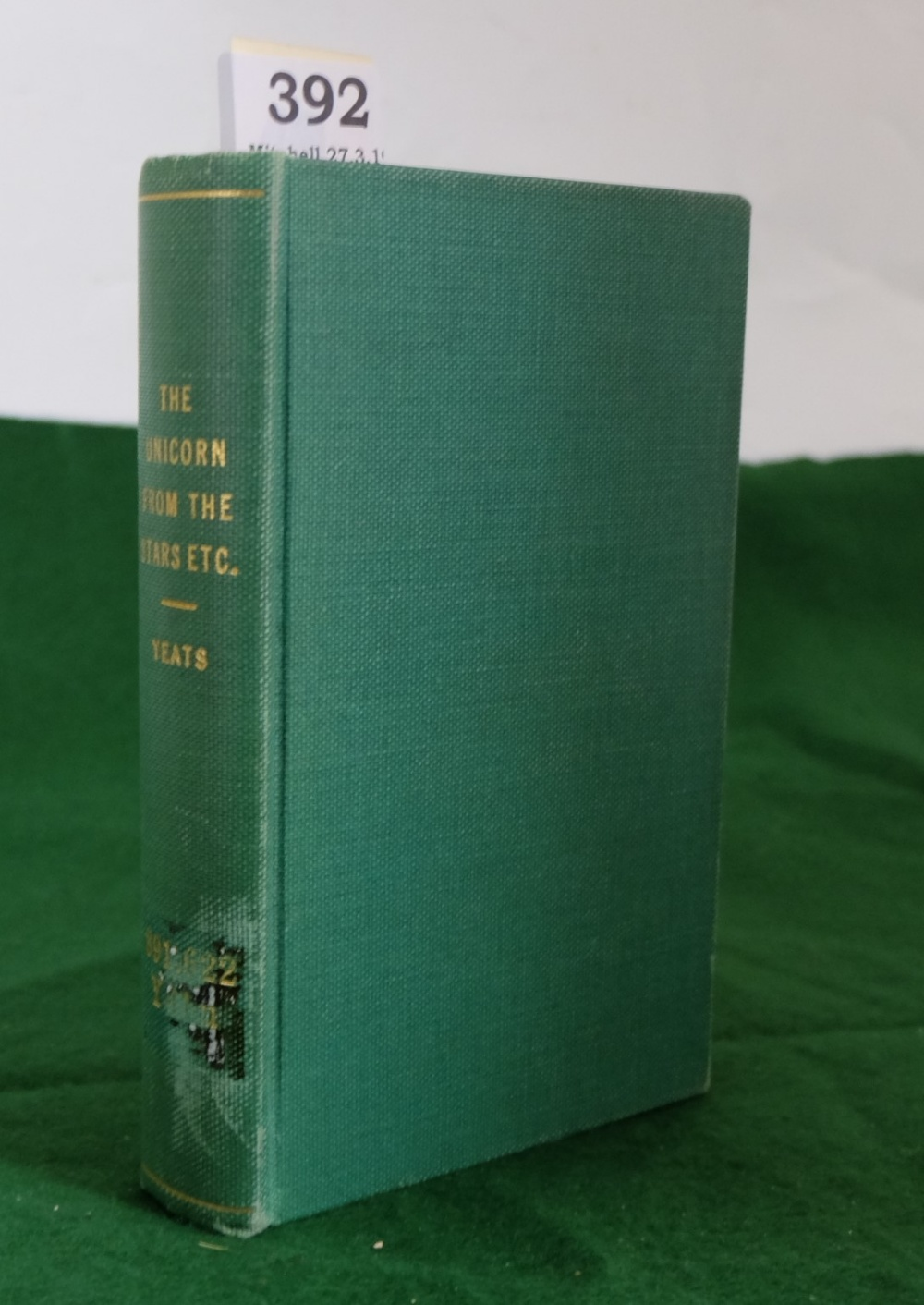 Lot 392 - BOOK - WB Yeats and Lady Gregory, The Unicorn from the Stars and other plays, 1908, First U.S.