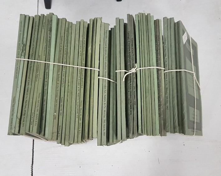 Lot 553 - Sothebys Auction Catalogues on behalf of various English Clients, 1960's & 1970's (6 bundles)