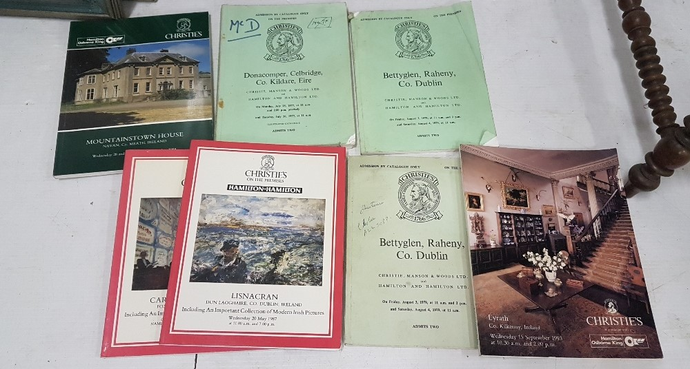 Lot 559 - 6 x Christies Auction Catalogues – Irish Estates incl. Lyrath Kilkenny 1993, Betty Glen,